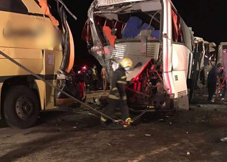 Four British pilgrims killed, 13 injured in a pile-up accident