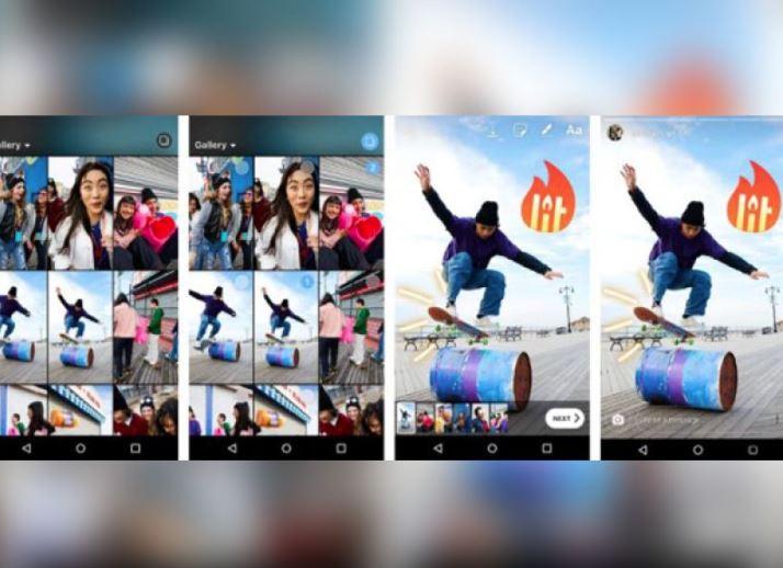 Upload multiple media at once on Instagram 'Stories'
