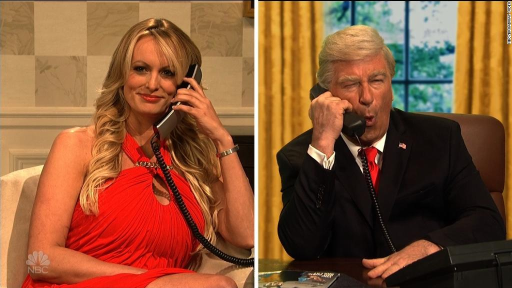 Stormy Daniels taunts fake Trump on comedy show SNL
