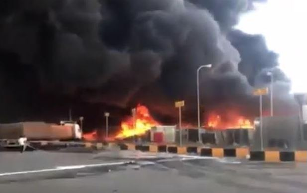 Fire guts customs warehouse, no casualties reported