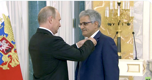 Putin honours Alkooheji with Order of Friendship