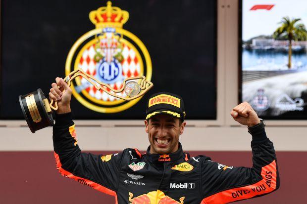 Ricciardo takes tense Monaco win in Red Bull's 250th race