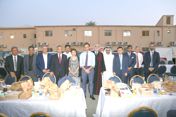 <p>People from various communities, ethnic groups, faiths and nationalities gathered in a joint appeal for peace. The 'Iftar for Peace' hosted by the International Peace Institute Middle East and North Africa (IPI Mena), Al Bayareq Al Baydhaa Society Bahrain and the Labour Market Regulatory Authority (LMRA) was held at the National Evangelical Church (NEC), Manama. NEC pastor and Bahrain Society for Tolerance and Interfaith Co-existence head Reverend Hani Azziz and IPI Mena director Nejib Friji served Iftar to guests, who included ambassadors, government officials, dignitaries and religious leaders. Above, diplomats, government officials and guests at the event.</p>