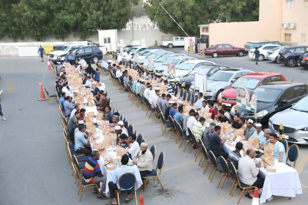 <p>Guests enjoying Iftar.</p>