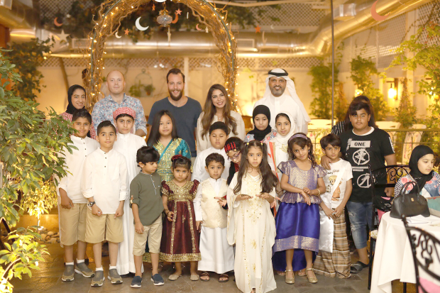 <p>A gargaoun was held for children last night at the Florence La Maison Méditerranéenne restaurant in Adliya. Organised by GBL Group and the Royal Charity Organisation, the event featured live entertainment, face-painting and competitions. Above, children and organisers at the event.</p>