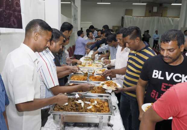 <p>Staff members at the Iftar.</p>