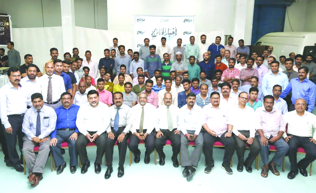 <p>Senior management and staff at the event.</p>