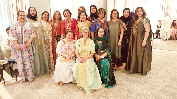 <p><em>Ms Siberell, front row, centre, with guests</em></p> <p>A ladies majlis was hosted by US Ambassador Justin Siberell's wife, Arnavaz, at their residence in Saar to celebrate Ramadan and Bahrain-US friendship.</p> <div>The event also recognised Bahraini artists whose work adorns the walls of their home – Zakeya Zada, Taiba Faraj, Leena Al Ayubi, Hadeer Al Baqali, Nadile Al Shaikh and Shaikha Marwa bint Rashid Al Khalifa.</div> <div></div> <div>Present were female government officials, academics, journalists, exchange programme participants and NGO representatives.</div>