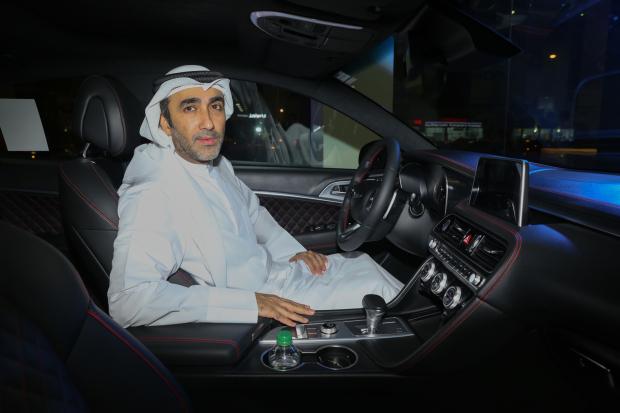 <p><em>Al Zayani Investments chairman Nawaf Khalid Al Zayani gets a feel of the new car.</em></p>