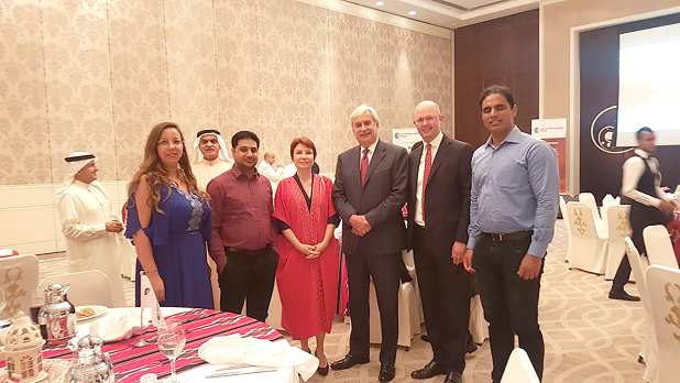 <p><em>Ms Longe, third from left, with FCCIB members at the event</em></p> <p>Around 70 French Chamber of Commerce and Industry in Bahrain (FCCIB) members attended an annual members meeting and ghabga held at the Sofitel Bahrain Zallaq Thalassa Sea and Spa.</p> <div>Present were French Ambassador Cecile Longe, FCCIB president Jean-Christophe Durand, FCCIB executive director Rim Jalali and other board members.</div> <p><em><br /></em></p>