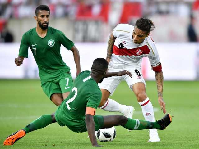 Guerrero brace lifts Peru past Saudi