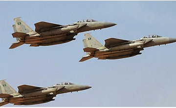 Arab Coalition fighters target Houthi sites