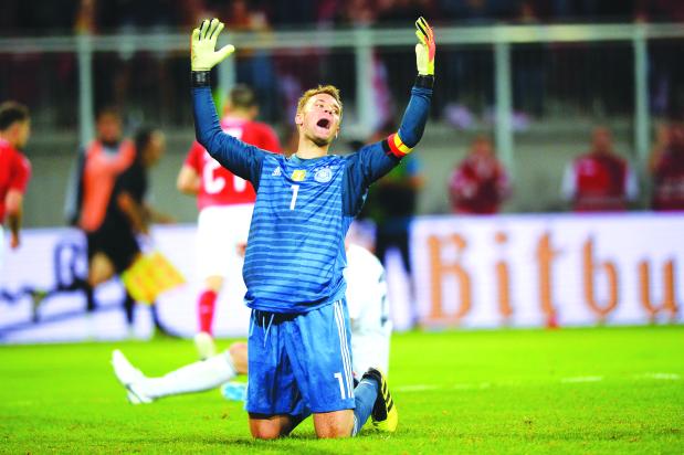 Germany pick Neuer but drop Sane