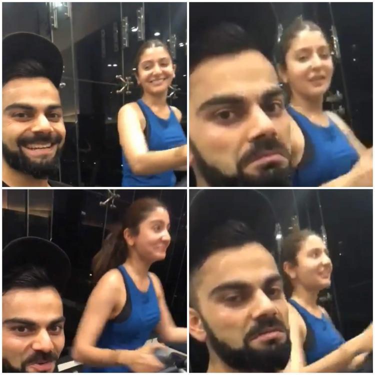 Video: Virat Kohli jokes as he trains with Anushka