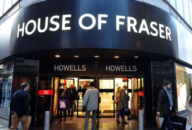 House of Fraser shuts 31 stores