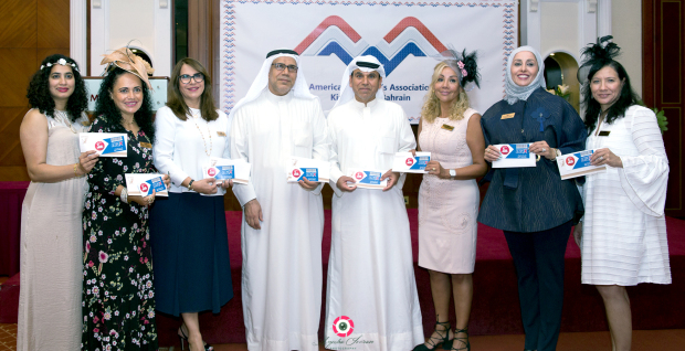 <p><em>Ms Greef with Bani Jamra Charity Society vice-president Mohammed Ismail, society secretary Mohammed Al</em>Ghasrah<em>, fourth from left, and other representatives.</em></p><p>Gift vouchers worth BD1,100 were donated to Bani Jamra Charity Society and Maqaba Charitable Society by the American Women's Association (AWA) during its general meeting at the Movenpick Hotel in Muharraq.</p><div>AWA president Angela De Greef handed over the vouchers which will be distributed to underprivileged children to purchase Eid clothes.</div><p><em><br></em></p>