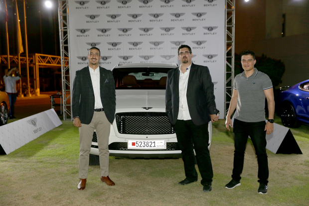 <p><em>Company officials with the car.</em></p><p>A Ramadanghabgaand test drivewashosted by Ahmed Zayani and Sons, the authorised dealers of Bentley vehicles in Bahrain, at the Royal Golf Club in Riffa last night.</p><div>Present were senior officials, customers and media representatives, who were shown a promotional video of the new Bentley Bentayga V8. The car was taken on a test drive while Bentley's Continental Supersport model was also on display.</div><p><em><br></em></p>