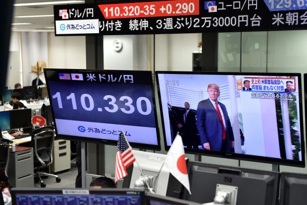 Stocks, dollar rise as Trump says US-North Korea summit 'really very positive'