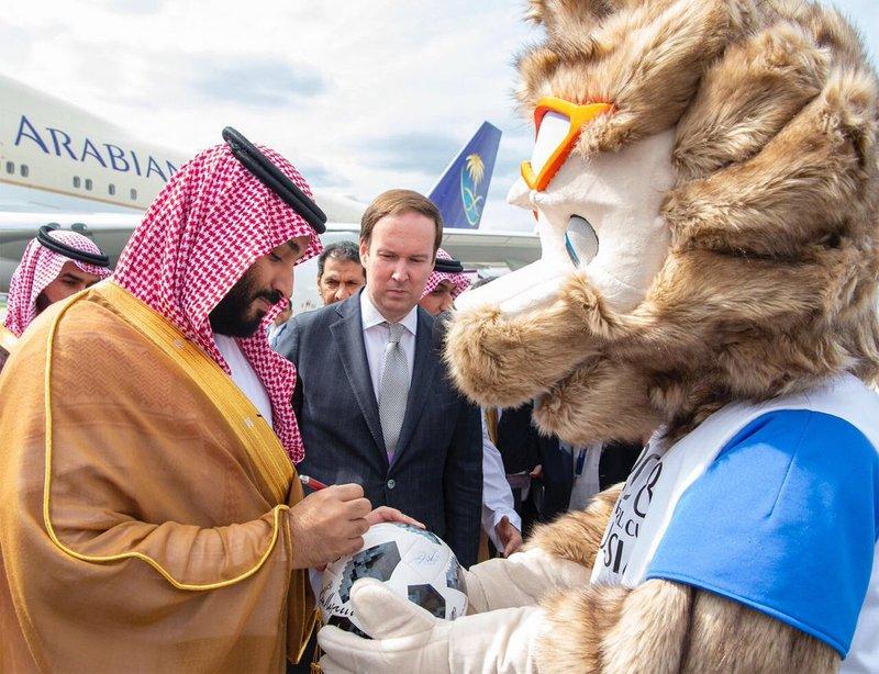 Saudi Crown Prince signs World Cup ball