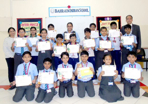 <p>THE Bahrain Indian School honoured students who won laurels in the International Olympiad Exams conducted by the Science Olympiad Foundation, India.</p><p>Ashok Shanbagh, who was placed fourth at the zonal and international levels in English Olympiad, was awarded a gold medal, a certificate of excellence and a cash prize.</p><p>Parth Gupta, who secured the seventh position at the zonal and 20th at the international level in Cyber Olympiad, was awarded a cash prize and a certificate of excellence.</p><p>Sixteen students of other grades secured merit certificates for securing high rank at the zonal level in Level II exams.</p><p>They were awarded prizes by principal Saji Jacob at a special assembly.</p><p>Directors Himanshu Verma and Ritu Verma congratulated the students, teachers and the parents.</p>