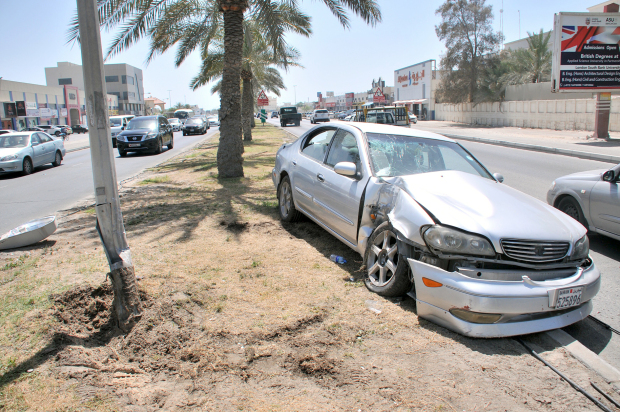 A woman driver was injured in the accident