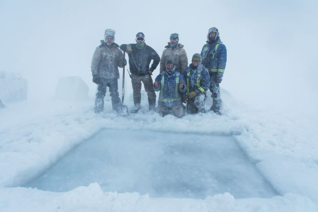 OMG: Antarctic researchers mark winter solstice with icy plunge