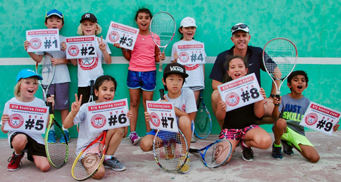 Prize time for young tennis stars