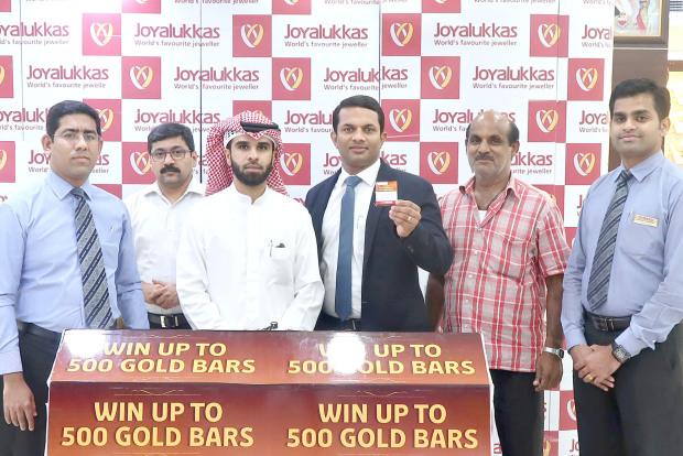 Joyalukkas announce first lucky winner of 'Win 500 Gold bar