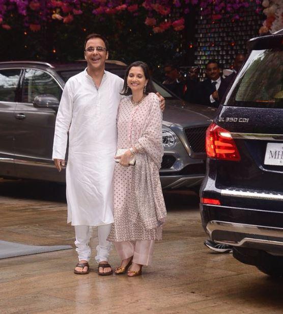 Celebs: IN PICTURES: B-town celebrities make a splash at Akash Ambani's engagement bash