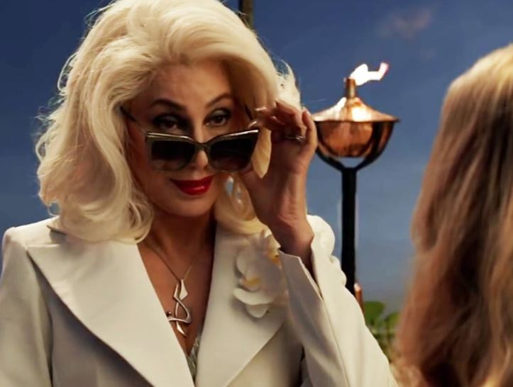"Cher makes glamorous entry in ""Mamma Mia"" sequel clip"