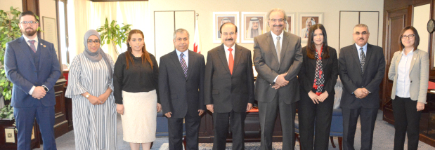 <p>New board members at the Bahrain Society of Engineers (BSE) met Electricity and Water Affairs Minister Dr Abdulhussain Mirza, centre, who briefed them on sustainable energy strategies and discussed plans for a sustainable energy conference in January. </p>