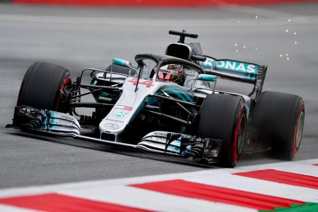 Hamilton fastest twice as Mercedes dominate Austrian practice