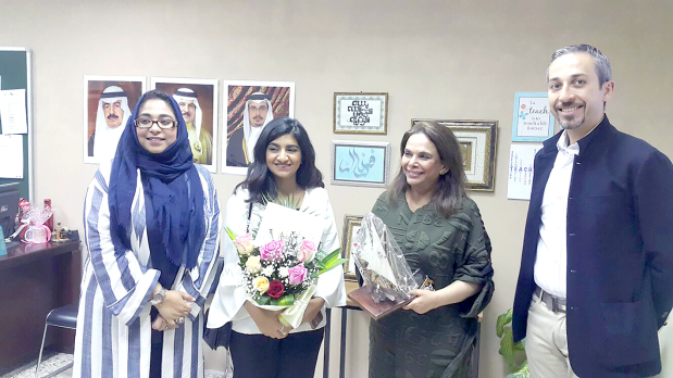 <p><em>Pakistan Urdu School principal Farzal Rasool, left, with Bahrain Bayan School co-ordinator Noor S Al Sabah, Dr Al Otaibi and finance director Ibrahim Tadros.</em></p>