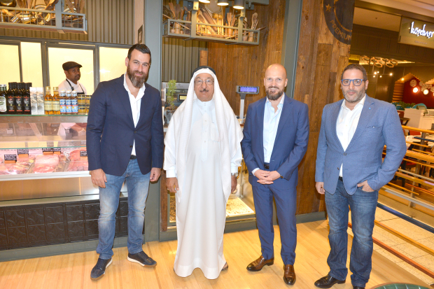 <p><em>At the event are, from left, F&B operations manager Farid Merheb, Al Hawaj managing director Jawad Al Hawaj, Azadea country manager Pierre Fourie and group brand manager Nicolas Al Tabbal</em></p>