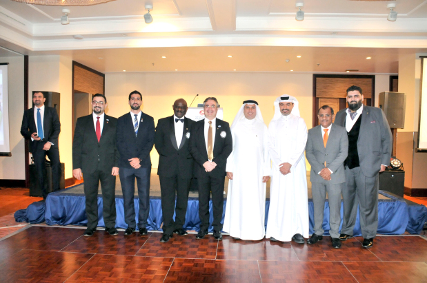 <p>Outgoing presidents of the various Rotary Clubs in Bahrain passed the torch to incoming presidents at a gala dinner held last night at the Gulf Hotel Bahrain.</p>