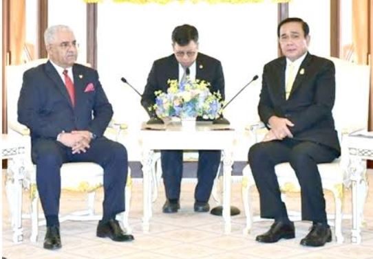 <p>Thai Prime Minister General Prayut Chan-o-cha received Bahrain's ambassador to Thailand Ahmed Abdullah Al Hajri who conveyed greetings from Bahrain's leadership. The Thai Premier vowed to boost co-operation and widen investment opportunities.</p>