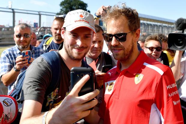 Vettel pips Hamilton in British Grand Prix practice