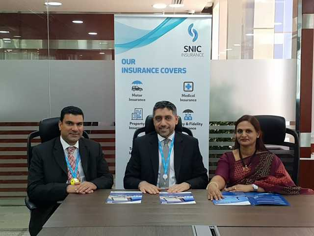 <p>SNIC Insurance has implemented an online survey solution provided by Bahraini IT firm Rsquare Technologies which it says will speed up the motor insurance claim handling process and enhance customer experience. At an event held to mark the implementation are, from left, SNIC Claims manager Hussain Al Mansoor, assistant general manager of corporate services Ahmed Radhi and Rsquare Technologies founder and chief executive Shanthini Raja.</p>