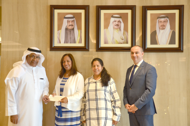 <p>A donation of BD3,000 has been made to Awal Women Society by the National Hotels Company, as part of its corporate social responsibility to support local charity organisations. A cheque for the amount was presented to society president Aisha Rabia by the company's board adviser Abdurahman Marshad at a ceremony at the Diplomat Radisson Blu Hotel, Residence and Spa. Above, Mr Marshad, left, presents the cheque to Ms Rabia in the presence of Dr Aisha Rashed Al Amer and hotel general manager Kosta Kourotsidis.</p>