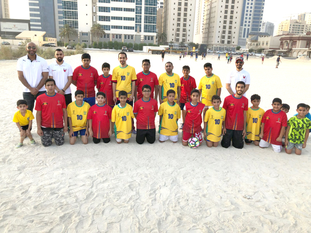 <p>Football T-shirts were distributed by Batelco to young football fans across Bahrain, to mark World Cup 2018. Batelco staff visited villages, distributed the shirts and played friendly matches with the children as part of the fun programme. Above, Batelco staff with the children who took part in the programme.</p>