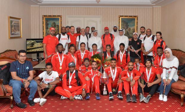 Shaikh Khalid hails Bahrain's athletes