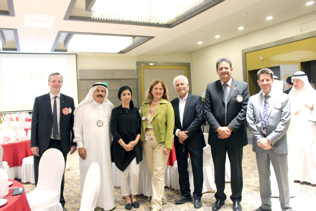 "<p><em>Ms Hashem, third from left, with members and guests at the event.</em></p><p>Clean-Up Bahrain co-founder Ruqaya Hashem was the guest speaker at a Rotary Club of Salmaniya meeting at the Golden Tulip Hotel. </p><div>She spoke on ""Clean-up Bahrain"": Together We Can Make a Difference"".</div><div><br></div><div>The event was attended by members and guests. </div><div><br></div><div><br></div>"
