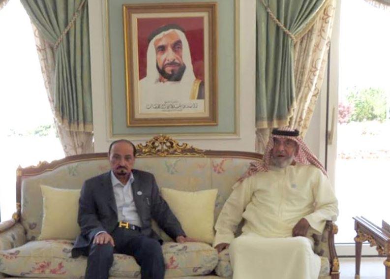 UAE president meets Ajman ruler at his residence in France