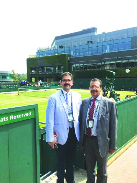 Shaikh Abdul Aziz visits Wimbledon