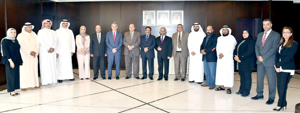 <p><em>Mr Maraghi with Dr Jawahery and other officials during the visit.</em></p>