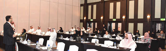 <p><em>Mr Al Bahar speaking at the event.</em></p>