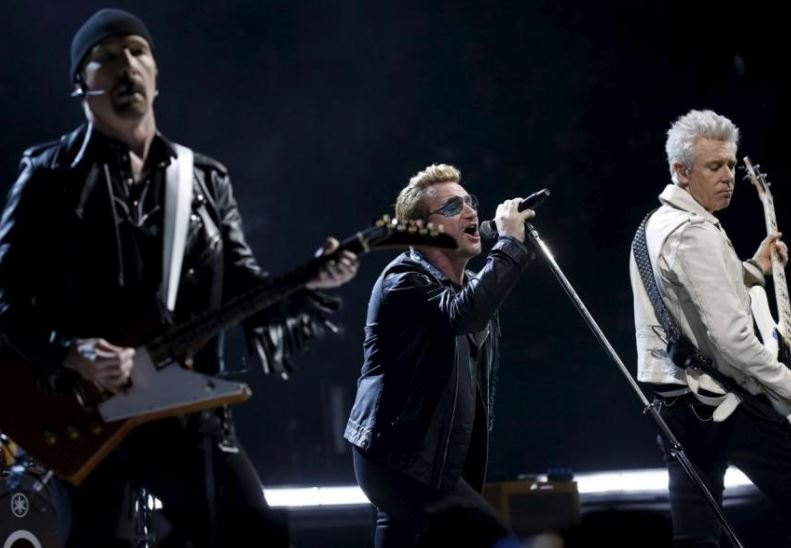 U2 top-paid musicians in US last year: survey
