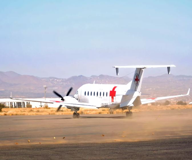 Saudi-led coalition forces Red Cross plane to land