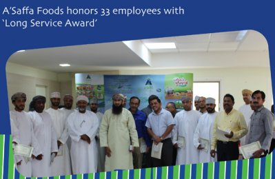 A'Saffa Foods honours 33 members of staff