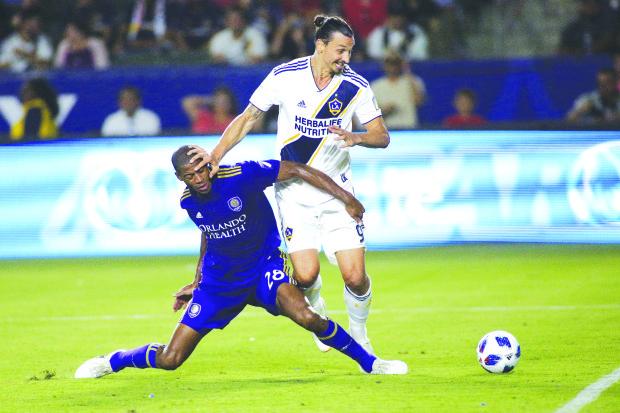 Ibrahimovic hits hat-trick at MLS